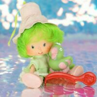Vintage Strawberry Shortcake Doll LIME CHIFFON & Pet PARFAIT PARROT Comb BH871