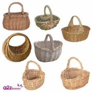 Child Kids Shopping Willow Seagrass Basket Shopper Easter Egg Hunt Fancy Dress
