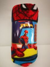 "SUPERHEROS SPIDERMAN BOY SOFT & WARM 45""X60"" FLEECE BLANKET100% ORIGINAL"