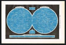 Celestial Map Star Systems Galaxy Night Sky Space 1922 Antique Print Larousse