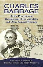 On The Principles And Development Of The Calculator And Other Seminal Writi.