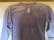 VICTORIA'S SECRET  - PINK - Crew Neck Velour Sweatshirt - XS - PURPLE  - NWT