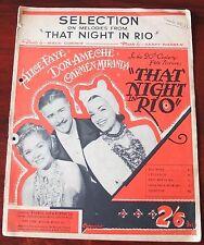 Warren & Gordon esa noche en Rio Partituras melodías selección (1941) OST