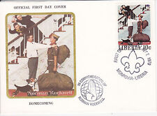 1979 Liberia Scouting / Norman Rockwell Commem.Fdc Cover - Homecoming Boy/Cub Sc