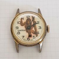 Vintage wind-up Chateau Orangutan Character Watch for Repair
