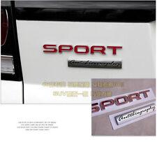 E755 Sport rot Emblem Badge auto aufkleber 3D Schriftzug Plakette car Sticker