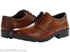 Rieker 16021 Ron Mens US 11 - 11.5 (EU 45) Brown Leather Plain Toe Oxfrods Shoes