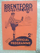 1947/48 BRENTFORD v MILLWALL, 8th Nov (Football programme)
