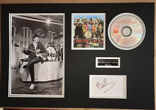 SIGNED PAUL MCCARTNEY 22x15 THE BEATLES SGT PEPPER MOUNTED DISPLAY RARE PROOF