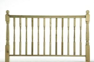 1.2m Turned Newell Post, Spindles & HandRail - Timber Decking Balustrade - £1.90