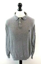 CHAPS RALPH LAUREN Mens Jumper Sweater Polo XL Grey Cotton Collared