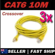 3 x 10m Yellow Cat 6 Cat6 Crossover 1000Mbps Premium RJ45 Ethernet Network Cable