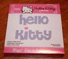 New Sizzix Bigz Phrase, Hello Kitty die 655804
