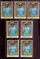 1981 Donruss #538 TIM RAINES ROOKIE RC 7 CARD LOT Montreal Expos HOF NM/MT