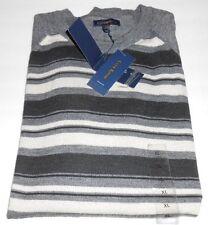 Club Room Estate Merino Blend Long Sleeve Lightweight Sweater Gray Heather XL
