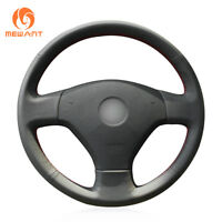 Black Real Leather Steering Wheel Cover for Volkswagen VW Old Jetta 5 2006-2010