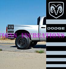 Hemi Dodge Ram Rear Bed Stripes Truck Decals Mopar Stickers Set of 2 Racing