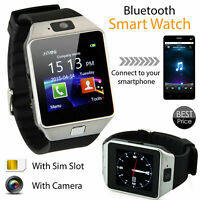 Smart Bluetooth Wrist Watch DZ09 Multifunction Touchscreen Digital Phonemate US