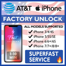PREMIUM SPEED FACTORY UNLOCK SERVICE FOR AT&T IPHONE 3GS 4 4S 5 5S 6 6S SE 7 8 X