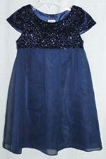 LULI & ME Girls Size 5 Party Dress Blue w/ Sequin Top