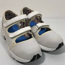 DREW SOLO White Diabetic Shoes Leather Hook Loop Mary Jane 9.5 WW Extra Wide