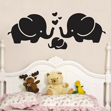 elephants love heart Baby Kids Quote Wall Stickers Art Room Removable Decals DIY