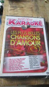 ♫ - LES TUBES DU KARAOKÉ - LES PLUS BELLES CHANSONS D'AMOUR - DVD - NEUF NEW - ♫