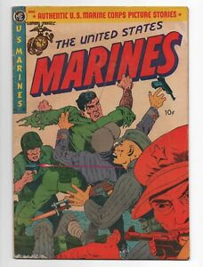 ME  THE UNITED STATES MARINES  6  A-1 60  1952  COMIC BOOK