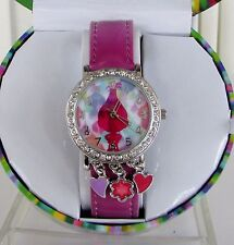 Betsey Johnson Watch Trolls Collection Analog Crystals Poppy New in Box!