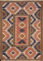 Vintage Geometric Tribal Anatolian Turkish Area Rug Hand-knotted Wool Carpet 4x6