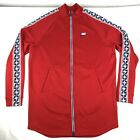 Nike Full-Zip Track Jacket Men's Size M (Body is Extra Long) Red White & Blue