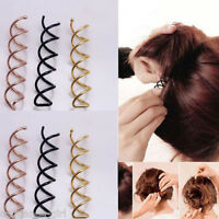 1/10pcs Lady Hair Clip Hair Styling Spiral Spin Screw Bobby Pin Twist Barrette