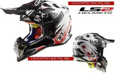 LS2 MX470 SUBVERTER EMPEROR CASCO CROSS ENDURO BLACK WHITE RED MIS. M