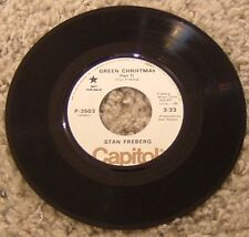 """45 RPM By Stan Freberg, """"Green Christmas"""" on Capitol"""