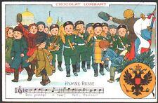 Publicité Chocolat Lombart. Hymne Russe
