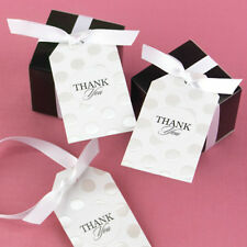 Pearl Dotted Thank You Wedding Favor Tags Cards 25/pk