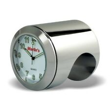 "Marlin's Talon Motorcycle Handlebar Clock with White Face for 1"" or 7/8"" Bar"