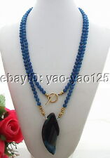 "Q081302 Charming! 44"" Agate&Jade&Crystal Necklace"