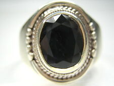 11/ V1/2 VINTAGE NATURAL 3.11CT SAPPHIRE STERLING SILVER MENS RING