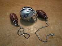 DALLAS COWBOYS HELMET AND FOOTBALLS CEILING FAN PULL CHAIN SET