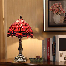 TIFFANY Style Table Lamp Antique Style Multi Colour Bed/Living Room Hand Crafted