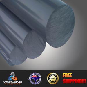 Grey PVC Polyvinyl Chloride Rod (30mm) Diameter x 245mm long Engineering Plastic