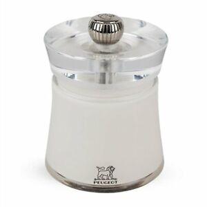 Peugeot Bali Acrylic Salt Mill Grinder White Fully Adjustable Grinder 3 inch 8cm