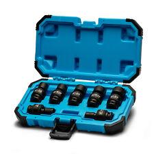 Capri Tools 3/8 in. Drive Universal Impact Socket Set, 3/8-3/4 in. SAE, 7-Piece