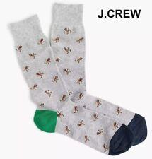 New J.CREW socks gingerbread man novelty grey green navy blue cute fun Christmas