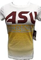 Flying Colors Juniors NCAA ASU Arizona State Sun Devils Shirt NWT XS,S,M,L,XL