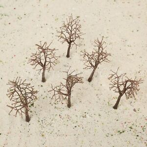 10Pcs Vivid Plastic Model Bare Trunk Tree Scenery Landscape 12cm HO OO Scale