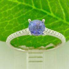 0.79 Ct Diamond &14k White Gold Stripes Ring