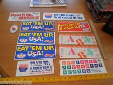 1985 US Olympics stickers lot of decals Kelloggs Los Angelels Etc