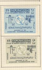 Jordanie 2 timbres non oblitérés 1965 centenaire de l'U.I.T. / T2840